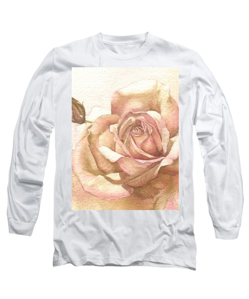 Lalique Rose Long Sleeve T-Shirt by Sandra Phryce-Jones