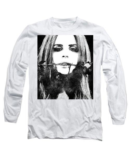 Lana Del Rey Bw Portrait Long Sleeve T-Shirt