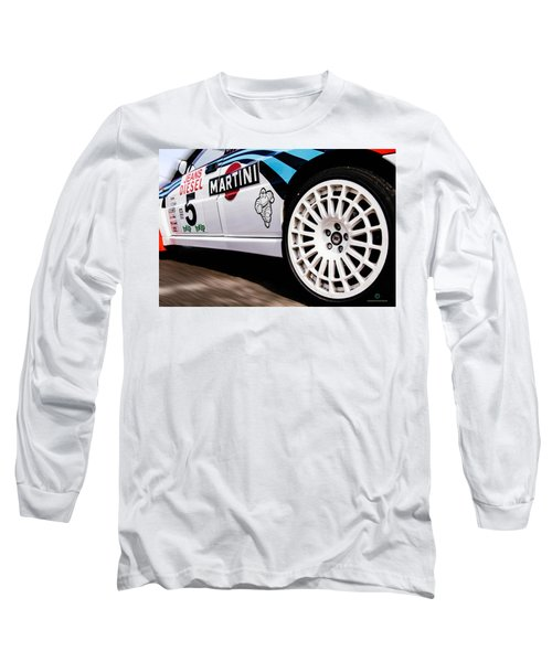 Lancia Delta Hf Integrale Long Sleeve T-Shirt by Cesare Bargiggia