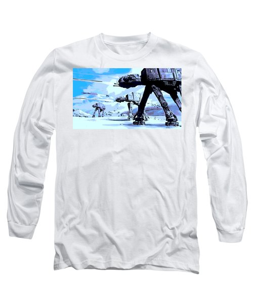Land Battle Long Sleeve T-Shirt by George Pedro