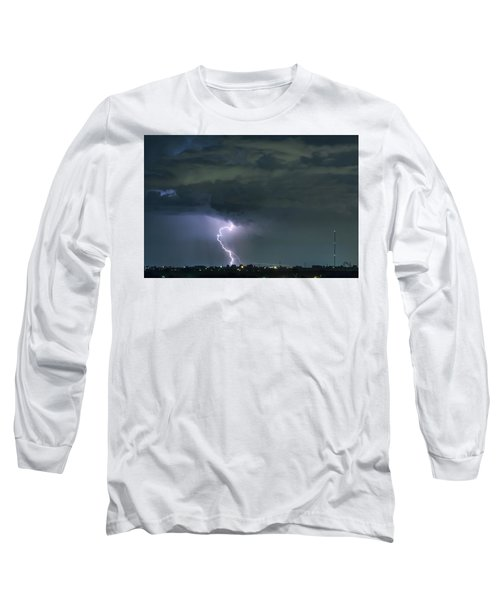 Long Sleeve T-Shirt featuring the photograph Landing In A Storm by James BO Insogna