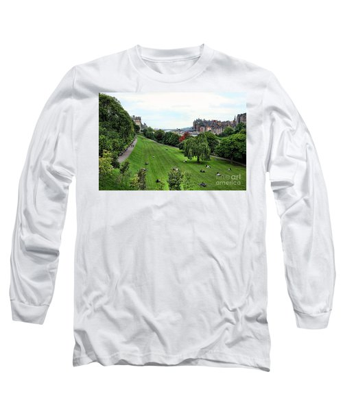 Landscape Edinburgh  Long Sleeve T-Shirt