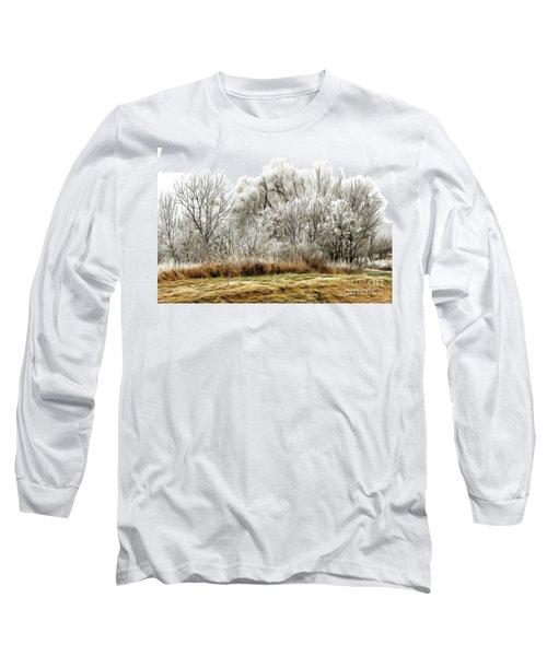 Landscape In Winter Long Sleeve T-Shirt