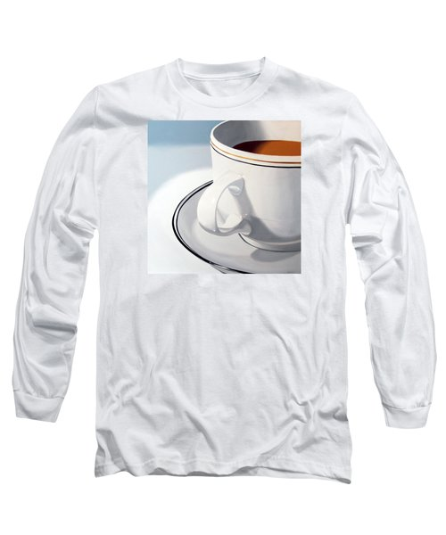 Long Sleeve T-Shirt featuring the painting Large Coffee Cup by Mark Webster