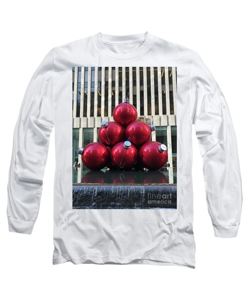 Large Red Ornaments Long Sleeve T-Shirt