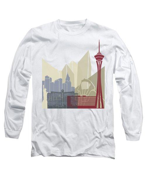Las Vegas Skyline Poster Long Sleeve T-Shirt