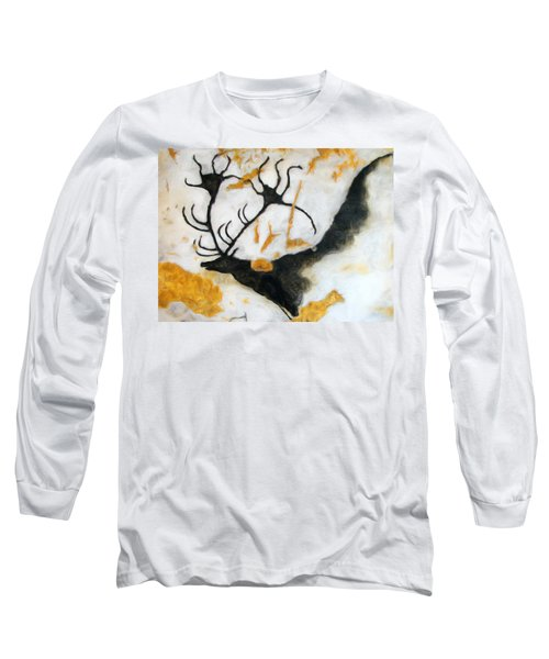 Lascaux Megaceros Deer 2 Long Sleeve T-Shirt