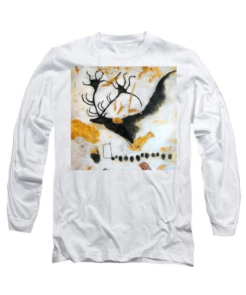 Lascaux Megaceros Deer Long Sleeve T-Shirt