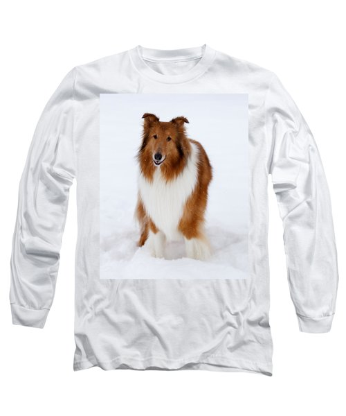 Lassie Enjoying The Snow Long Sleeve T-Shirt