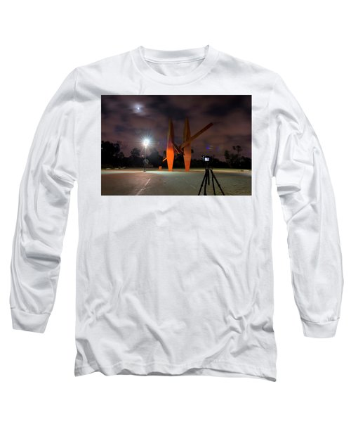 Long Sleeve T-Shirt featuring the photograph Last Night In The Park by Dubi Roman