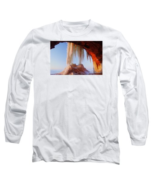 Long Sleeve T-Shirt featuring the photograph Late Afternoon In An Ice Cave by Larry Ricker