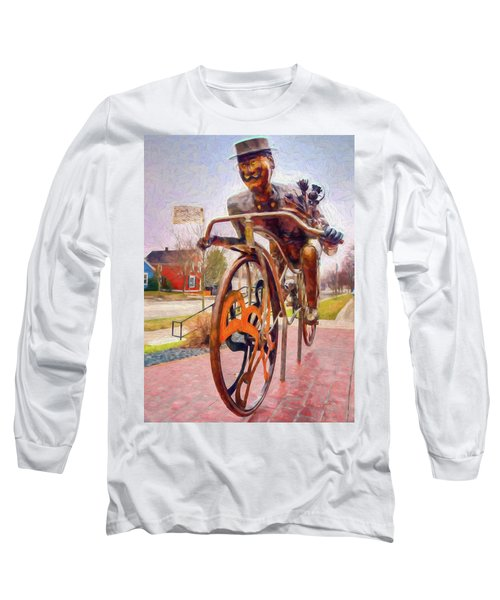 Late For A Date Long Sleeve T-Shirt by Trey Foerster