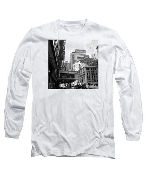 Late Show Nyc Long Sleeve T-Shirt by Shelley Overton