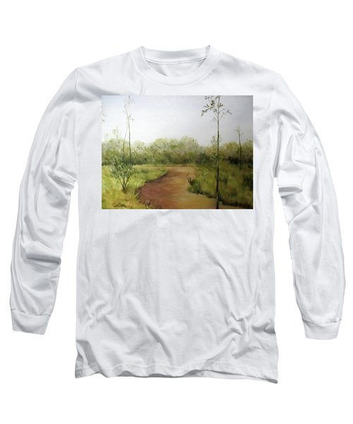 Long Sleeve T-Shirt featuring the painting Late Summer Walk by Roseann Gilmore