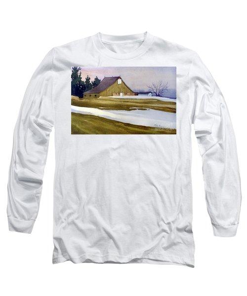 Late Winter Melt Long Sleeve T-Shirt by Donald Maier