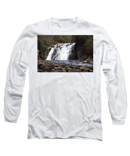 Long Sleeve T-Shirt featuring the photograph Laurel Falls In Spring #1 by Jeff Severson