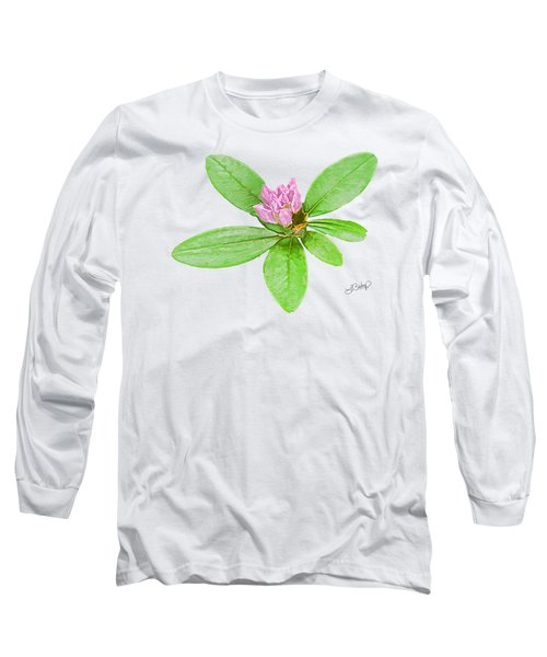 Laurel In Pink Long Sleeve T-Shirt by Larry Bishop