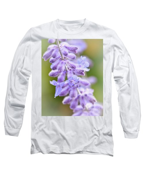 Long Sleeve T-Shirt featuring the photograph Lavender Blooms by Kerri Farley