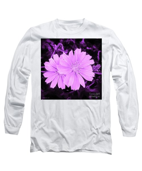 Blue Daisy Twins Lavender Long Sleeve T-Shirt