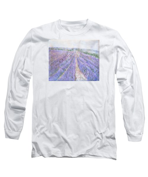 Lavender Fields Provence-france Long Sleeve T-Shirt