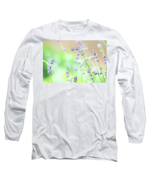 Lavender Garden Long Sleeve T-Shirt by Trina Ansel