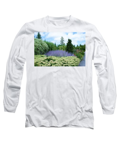 Lavender In The Middle Long Sleeve T-Shirt by Lois Lepisto