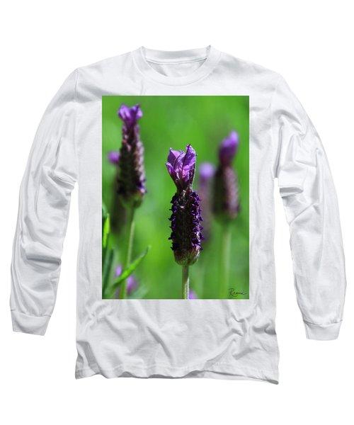 Lavender Spike Long Sleeve T-Shirt
