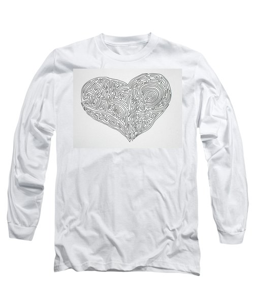 Laying Your Heart On A Line  Long Sleeve T-Shirt by Vicki  Housel