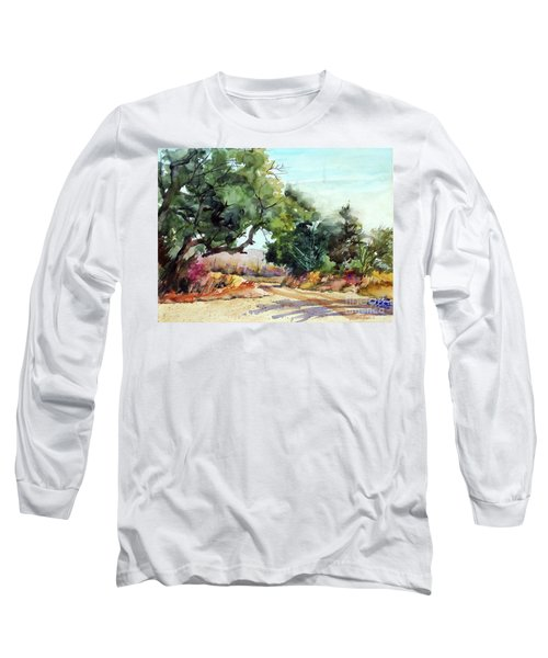 Long Sleeve T-Shirt featuring the painting Lbj Grasslands Tx by Ron Stephens