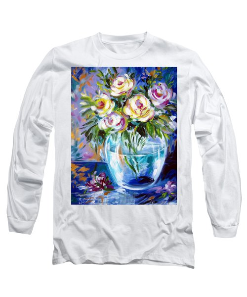 Le Rose Bianche Long Sleeve T-Shirt by Roberto Gagliardi
