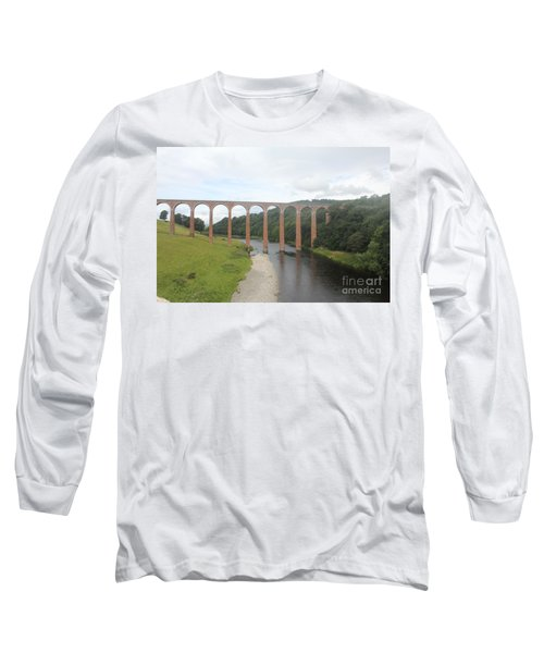 Leaderfoot Viaduct Long Sleeve T-Shirt by David Grant