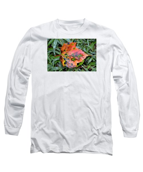 Long Sleeve T-Shirt featuring the photograph Leaf It Be by Lew Davis
