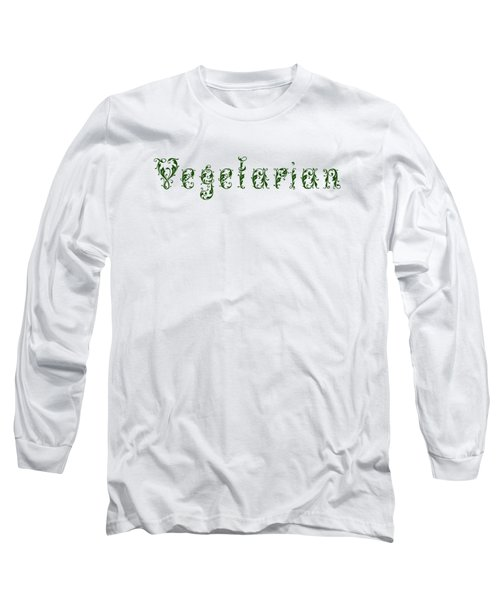 Leafy Green Vegetarian Long Sleeve T-Shirt by Nola Lee Kelsey