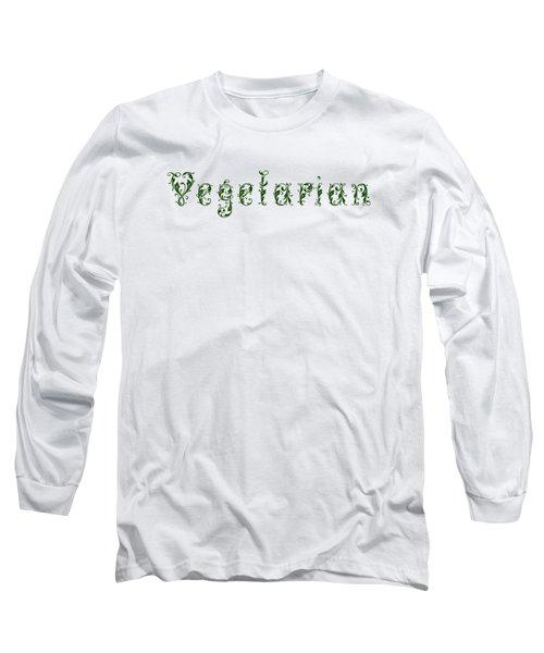 Leafy Green Vegetarian Long Sleeve T-Shirt