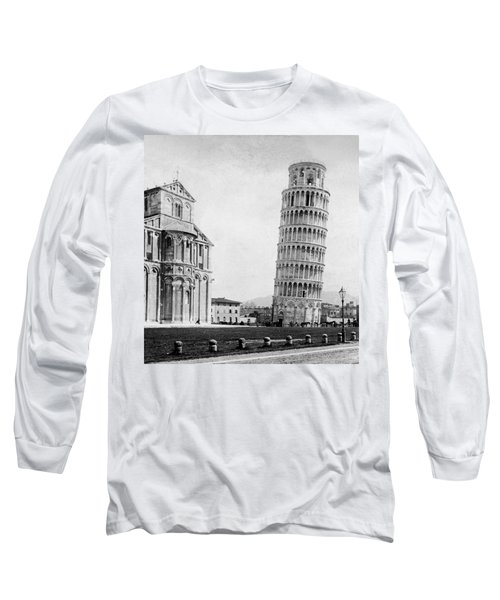Leaning Tower Of Pisa Italy - C 1902  Long Sleeve T-Shirt by International  Images