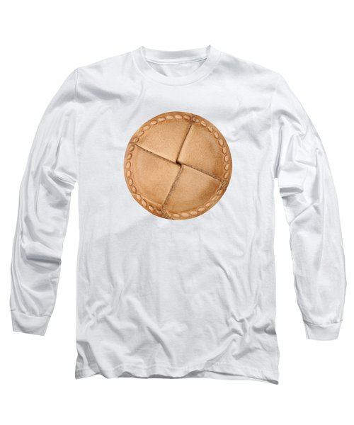 Leather Button Long Sleeve T-Shirt
