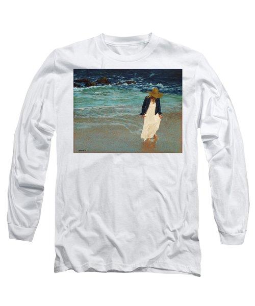 Leaving The Beach Long Sleeve T-Shirt