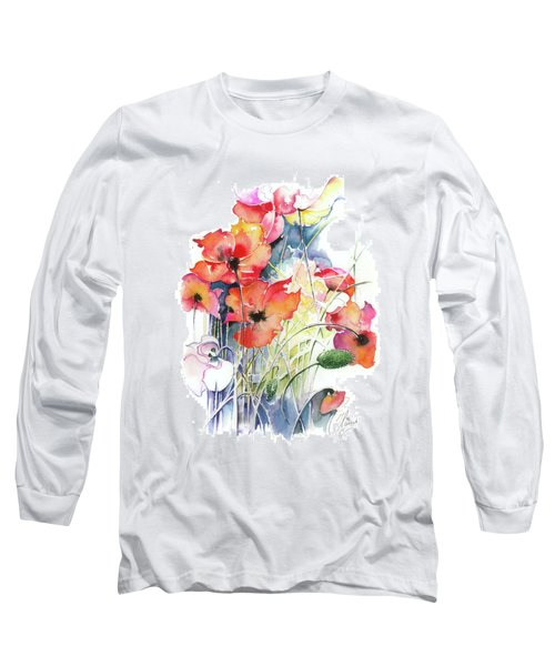 Long Sleeve T-Shirt featuring the painting Leaving The Shadow by Anna Ewa Miarczynska