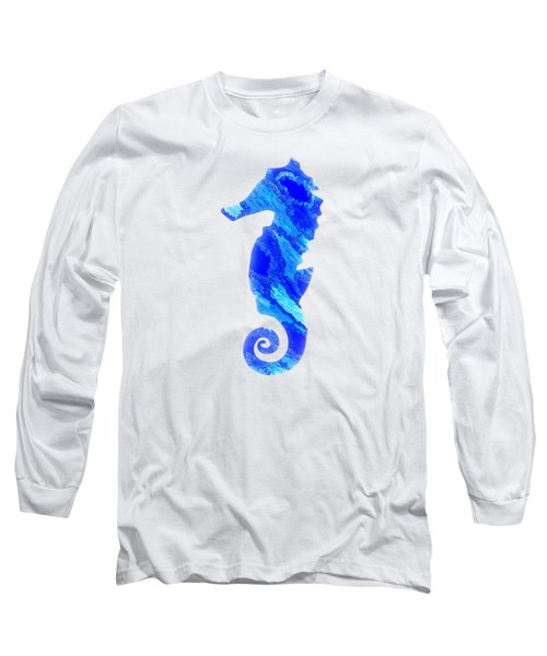 Left Facing Seahorse Bt Long Sleeve T-Shirt