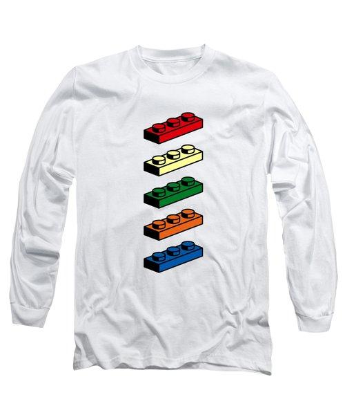 Long Sleeve T-Shirt featuring the photograph Lego T-shirt Pop Art by Edward Fielding