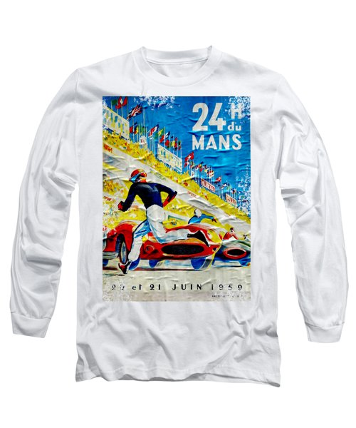 Lemans Distressed Poster Long Sleeve T-Shirt