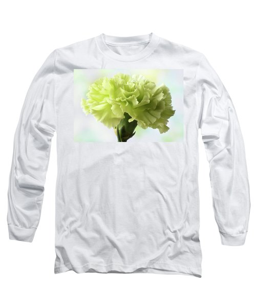 Long Sleeve T-Shirt featuring the photograph Lemon Carnation by Terence Davis