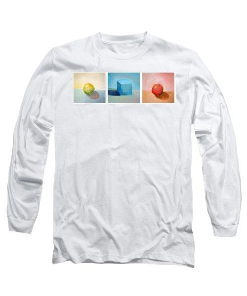 Lemon Cube Sphere Long Sleeve T-Shirt
