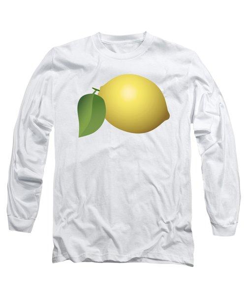 Lemon Fruit Long Sleeve T-Shirt by Miroslav Nemecek