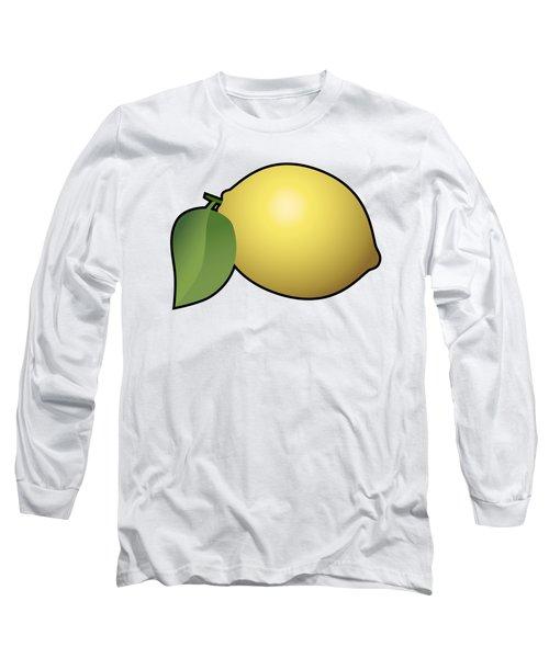 Lemon Fruit Outlined Long Sleeve T-Shirt by Miroslav Nemecek