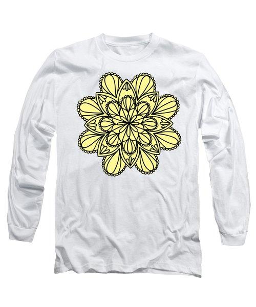 Lemon Lily Mandala Long Sleeve T-Shirt by Georgiana Romanovna