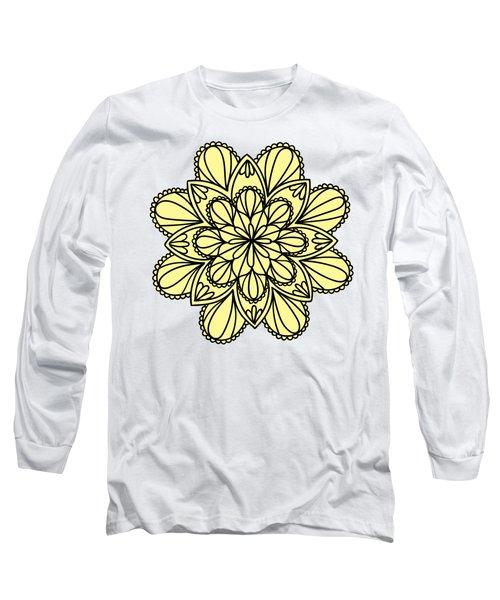Lemon Lily Mandala Long Sleeve T-Shirt