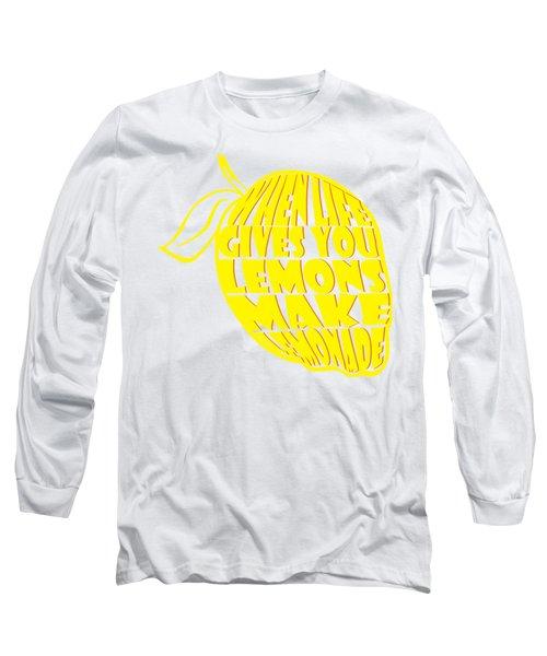 Lemonade Long Sleeve T-Shirt by Priscilla Wolfe