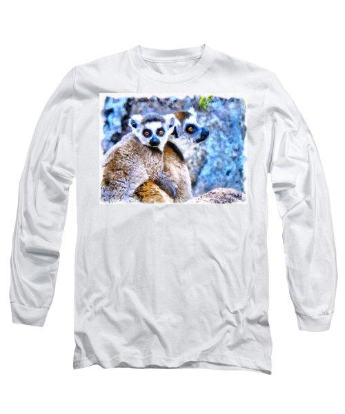 Lemurs Of Madagascar Long Sleeve T-Shirt by Maciek Froncisz