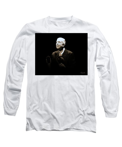 Portrait Of Leonard Cohen Long Sleeve T-Shirt